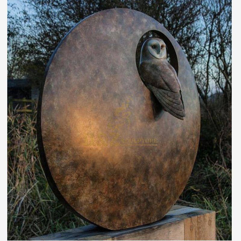 Garden park decorative bird bronze sculpture
