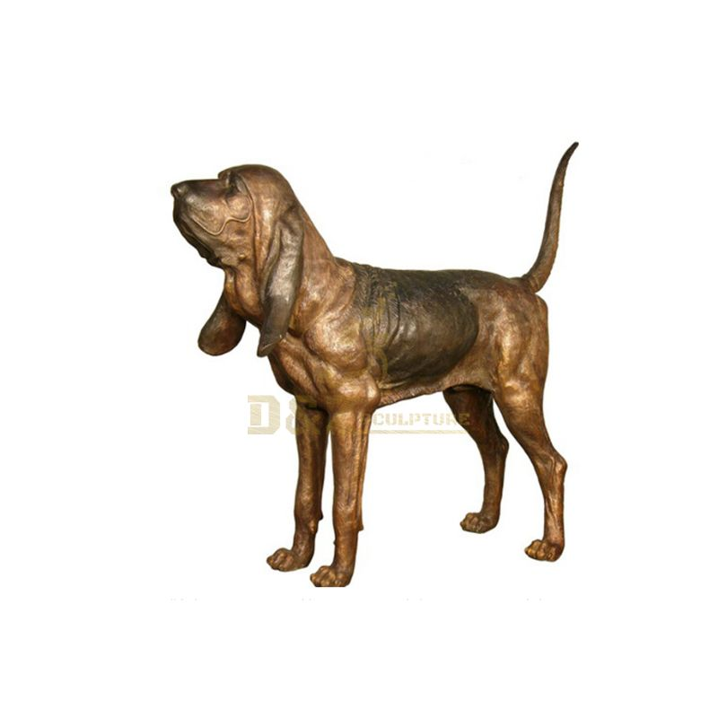 Decoration classic bronze running dog statues