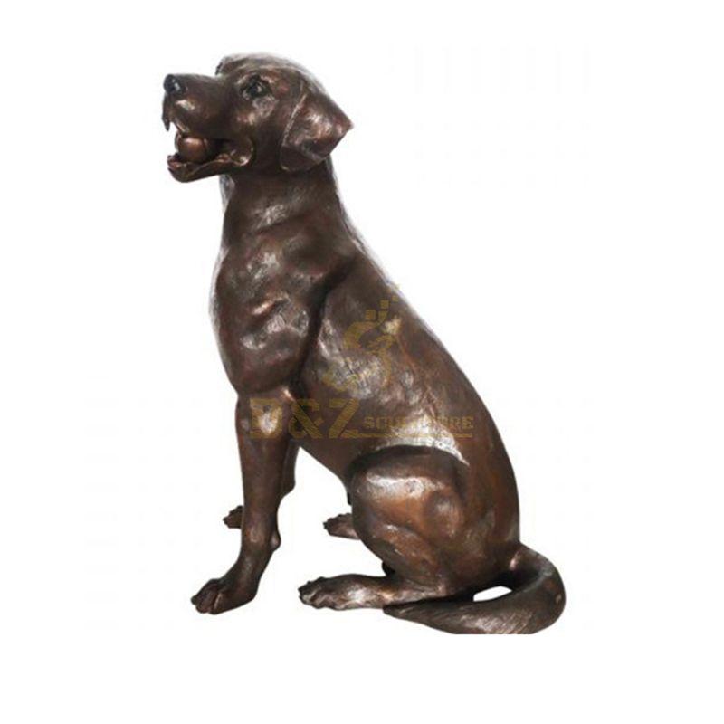 Outdoor Home Decor Garden Animal Metal Art Craft Bronze Famous Dog Sculpture