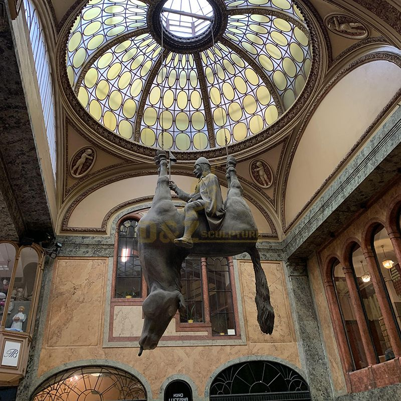The Alternative Arts Sculpture Of St Wenceslas Outside Of Kino Lucerna