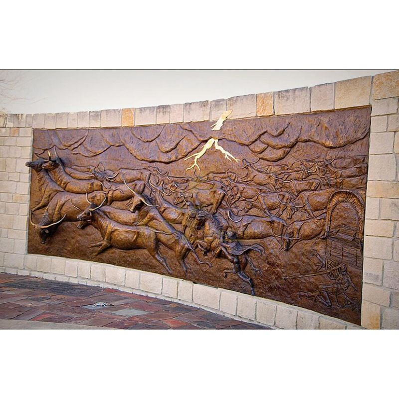What is a high relief sculpture?