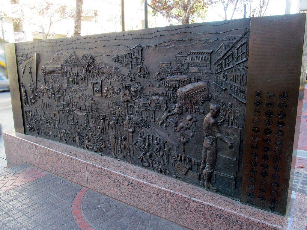 Bas Relief human market bronze sculptures for sale