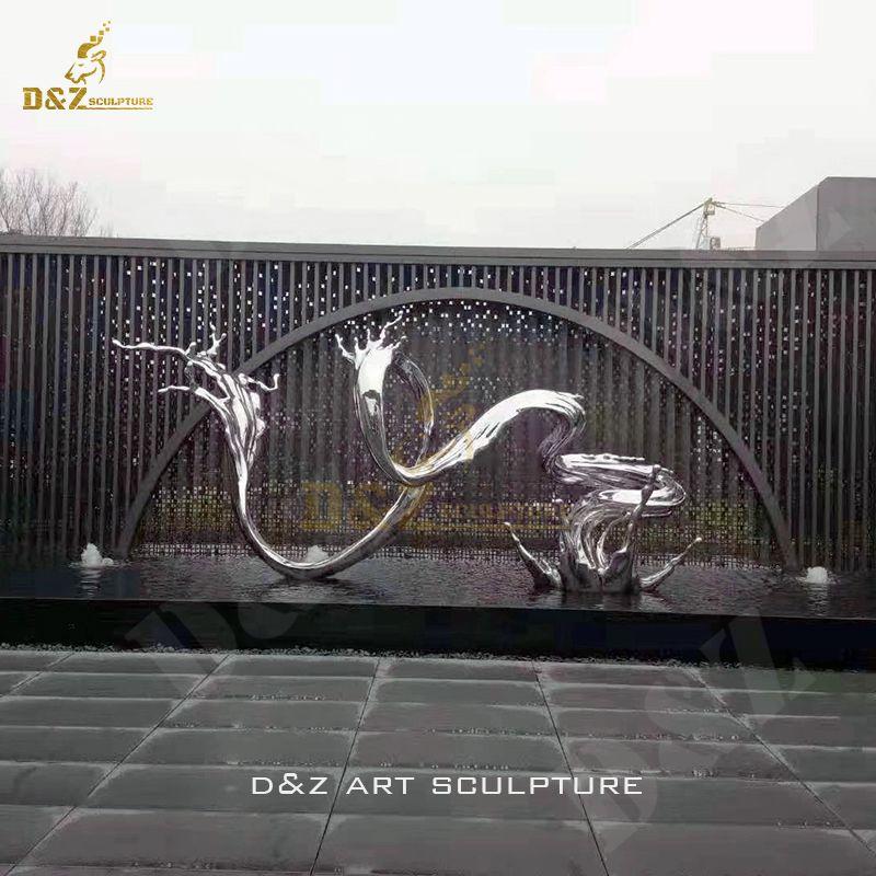 Modern Stainless Steel Sculpture Art Metal Statue