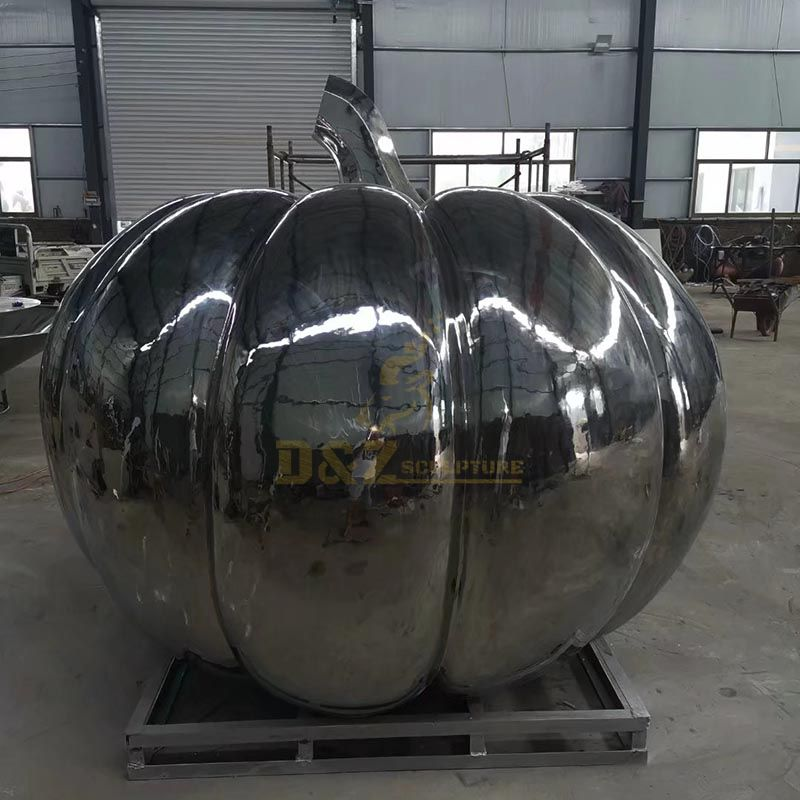 Exquisite Stainless Steel Football Sculpture Outdoor Decoration