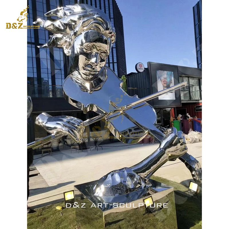 Musician Sculptures Stainless Steel Statue