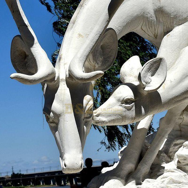 deer garden statue