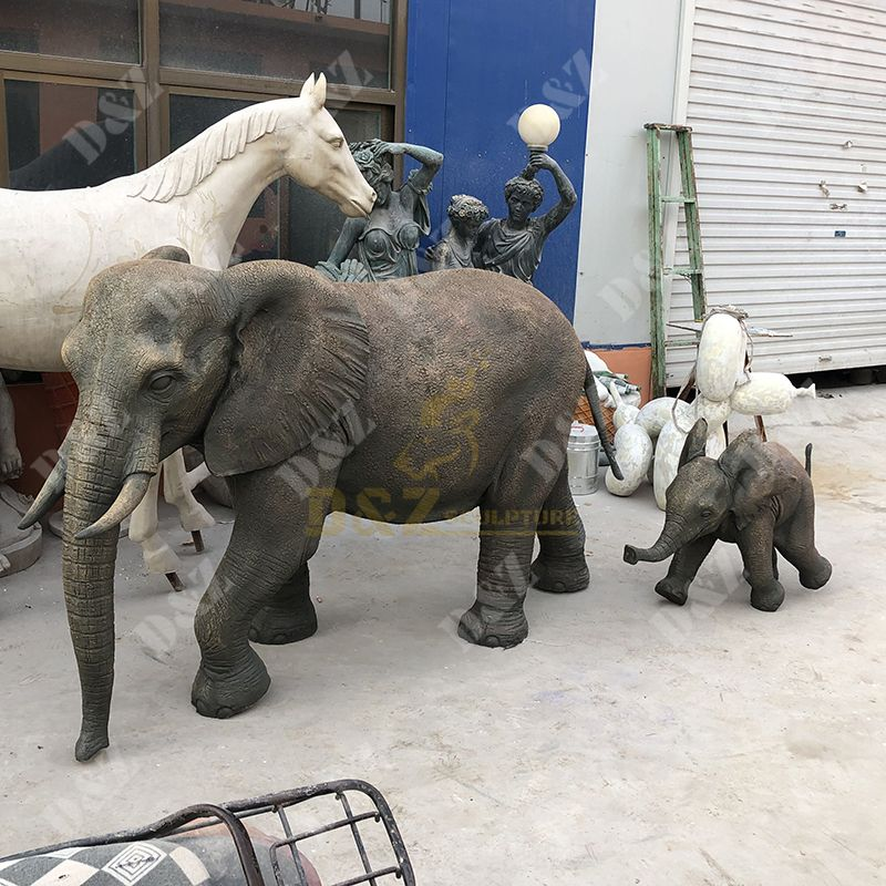 Fiberglass Life Size Elephant Statue for sale