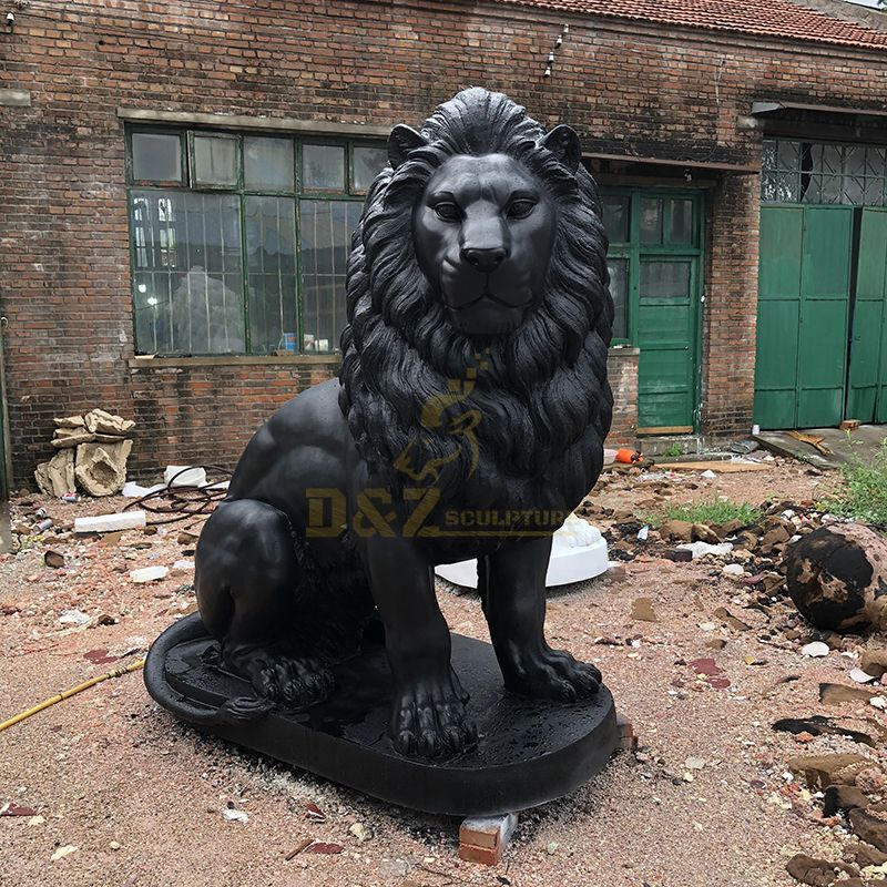 Outdoor Lion Statues Glass Fiber Reinforced Plastic Decoration