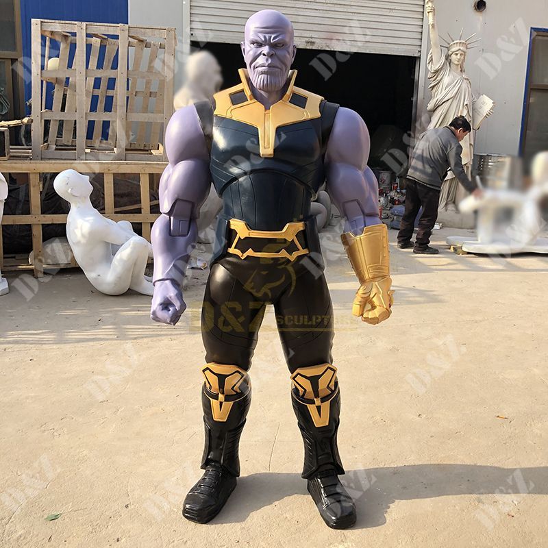 Life Size Action Figure Resin Art Superhero Thanos Statue