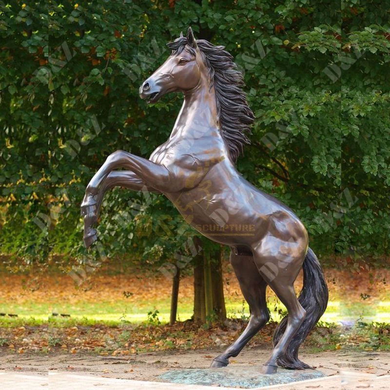 Fiberglass Outdoor Horse Statues Gardne Decorations For Sale