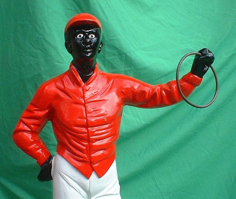 Black lawn jockey statues for sale