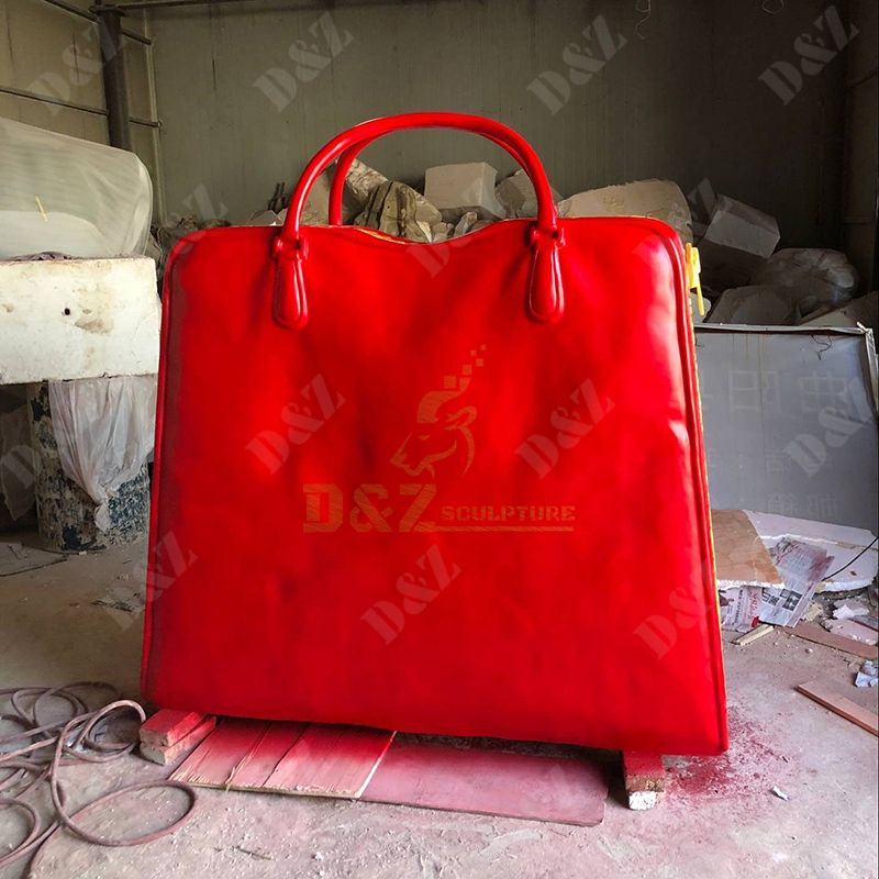 Modern Custom Metal Business Signs Interior Decoration Sculpture Bag