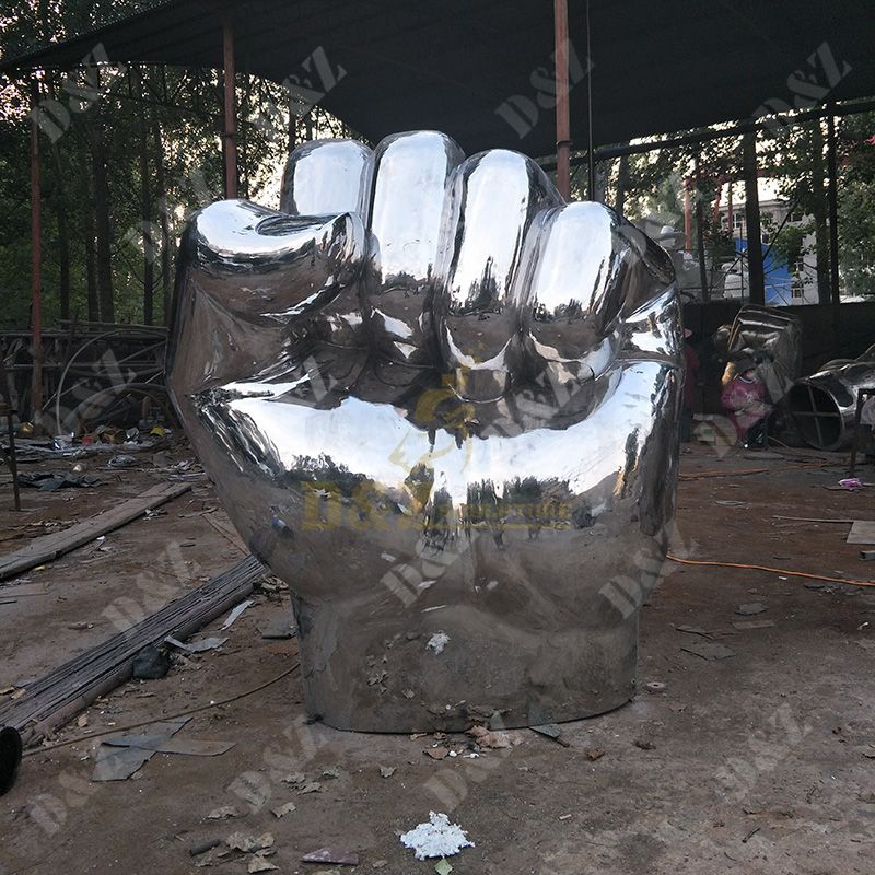 Large Size Stainless Steel Hand Sculptures