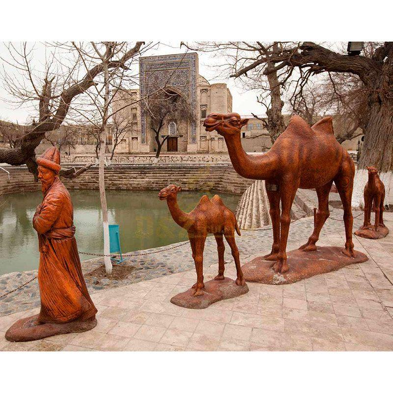 bronze camel sculpture