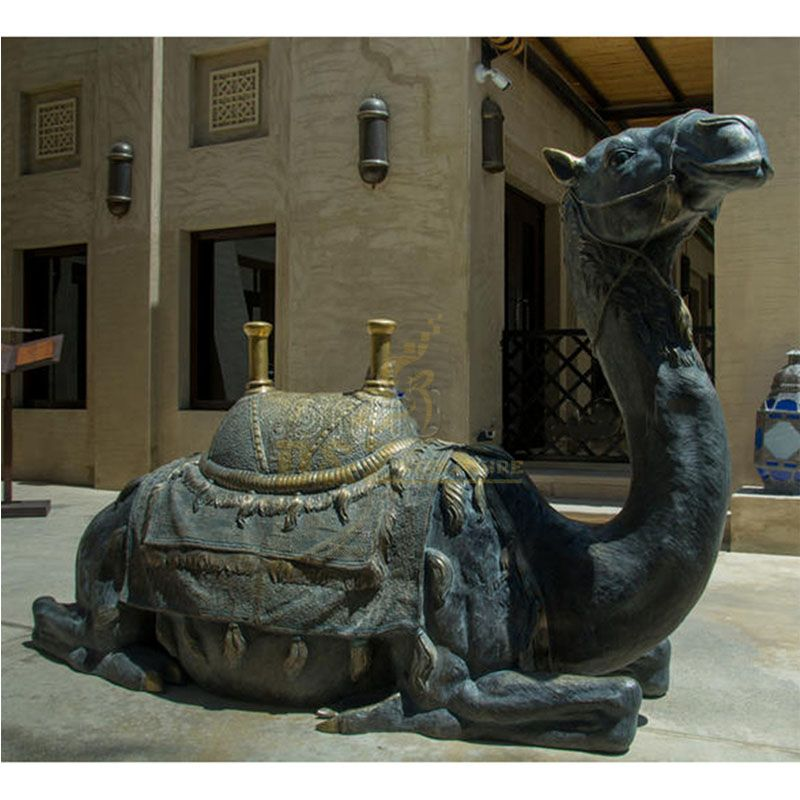 seated camel sculpture