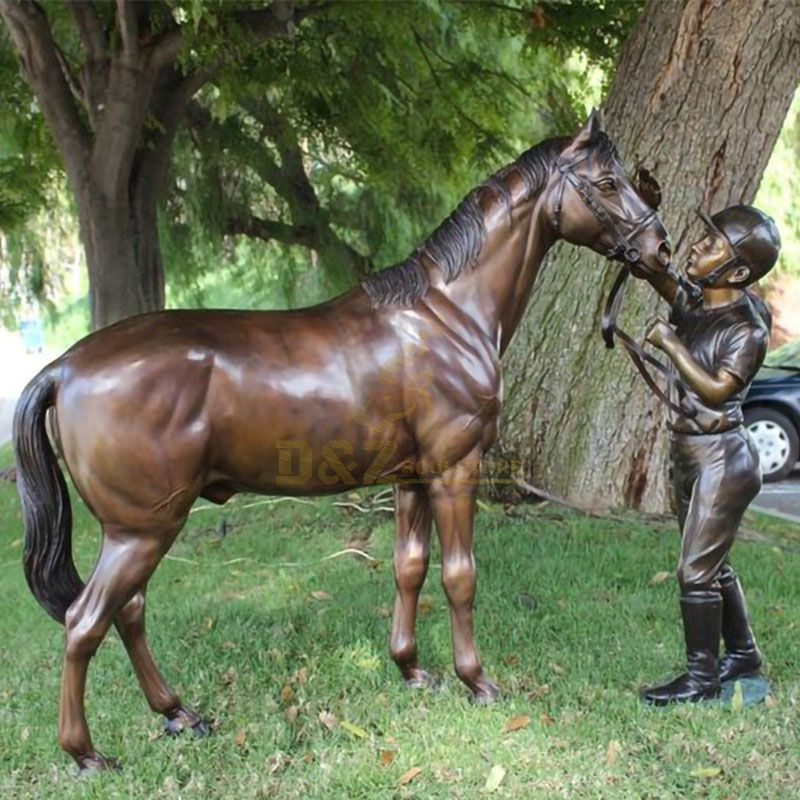 life-size horse statue