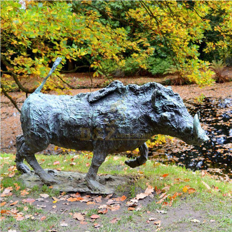 bronze boar statue