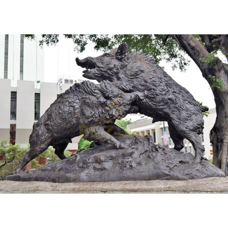 sculptures of animals