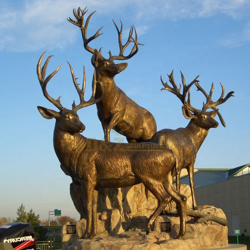 bronze antelope sculpture