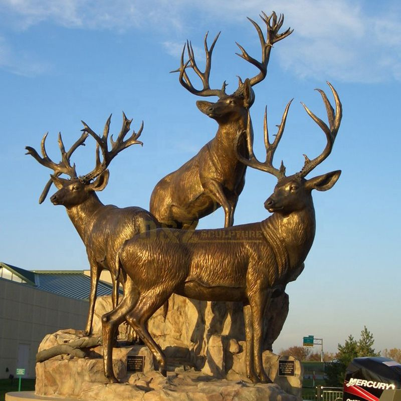 metal antelope sculpture