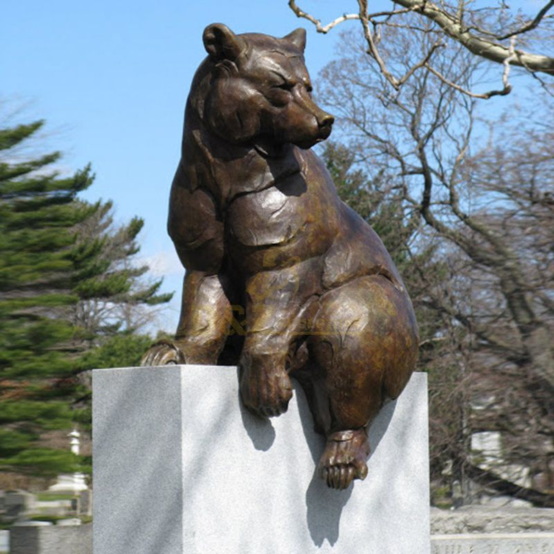 metal bear sculpture