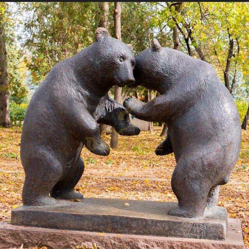bear bronze sculpture