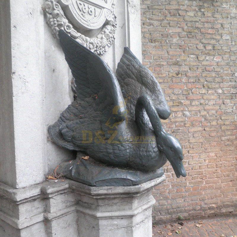 outdoor swan statue