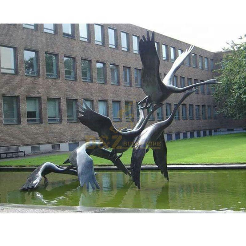 goose statue for garden