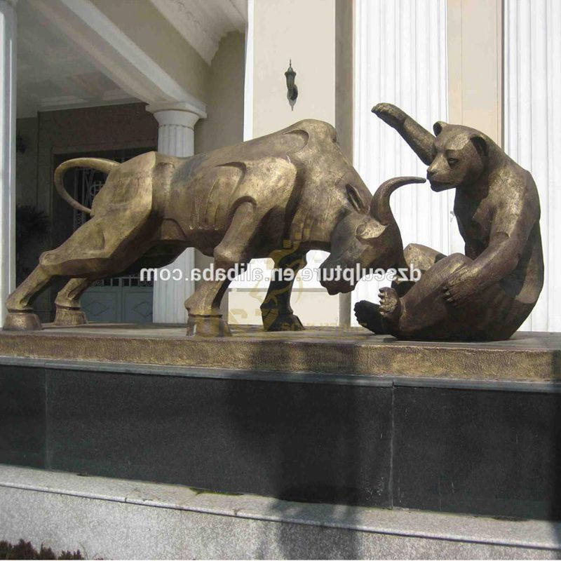 bear and bull statue