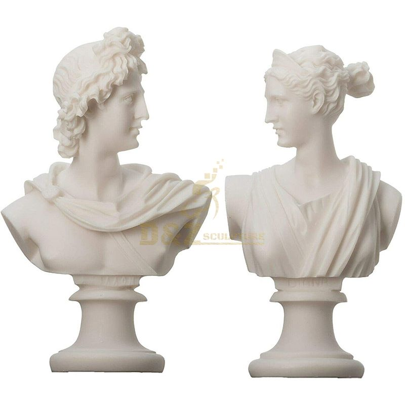 Marble Bust Ancient Greek Statues Of Gods Artemis Diana and Apollo