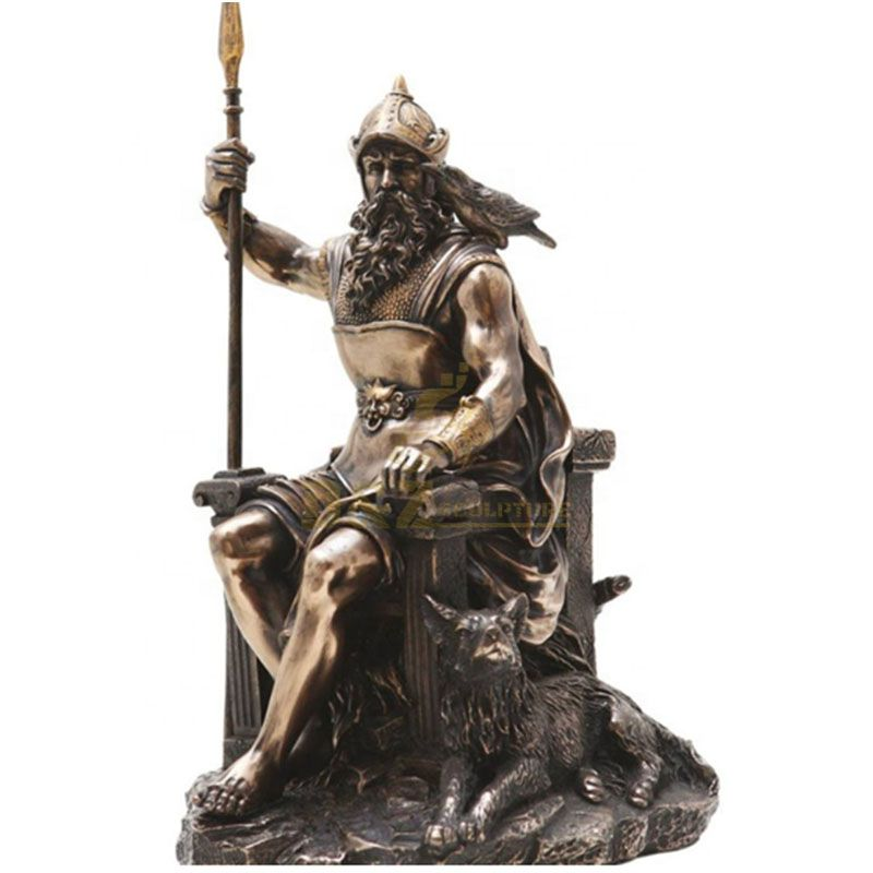 Life size norse god Odin statue for sale