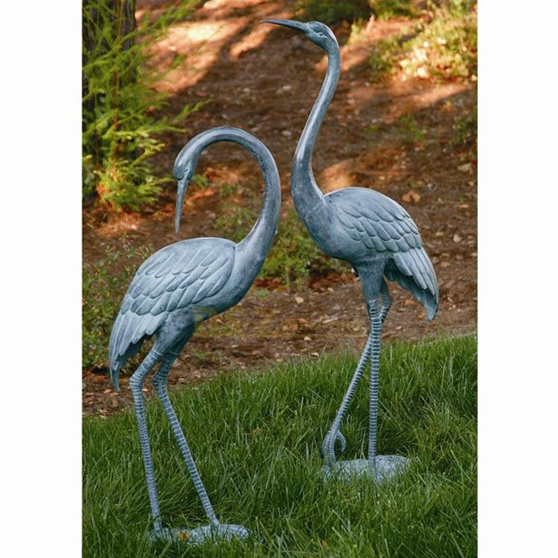 Metal sandhill crane garden statues for sale