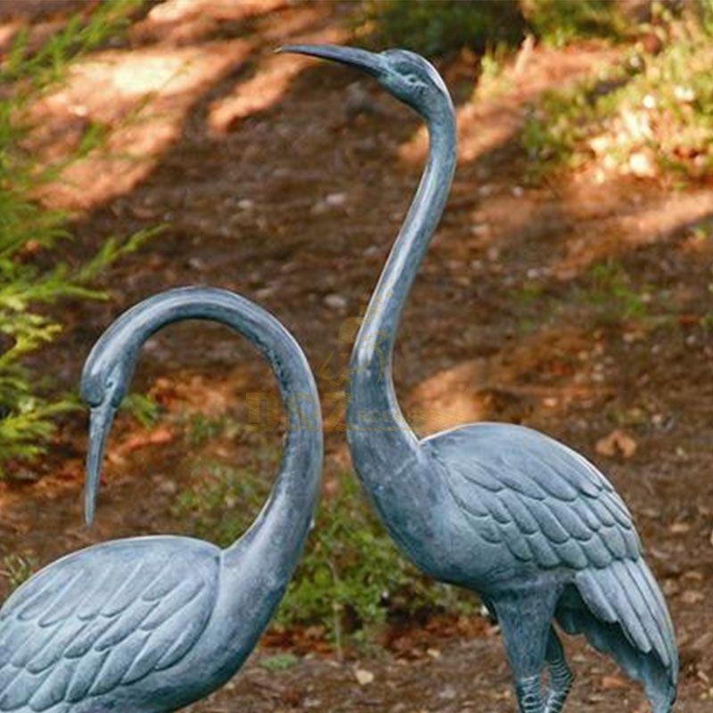 sandhill crane garden statues