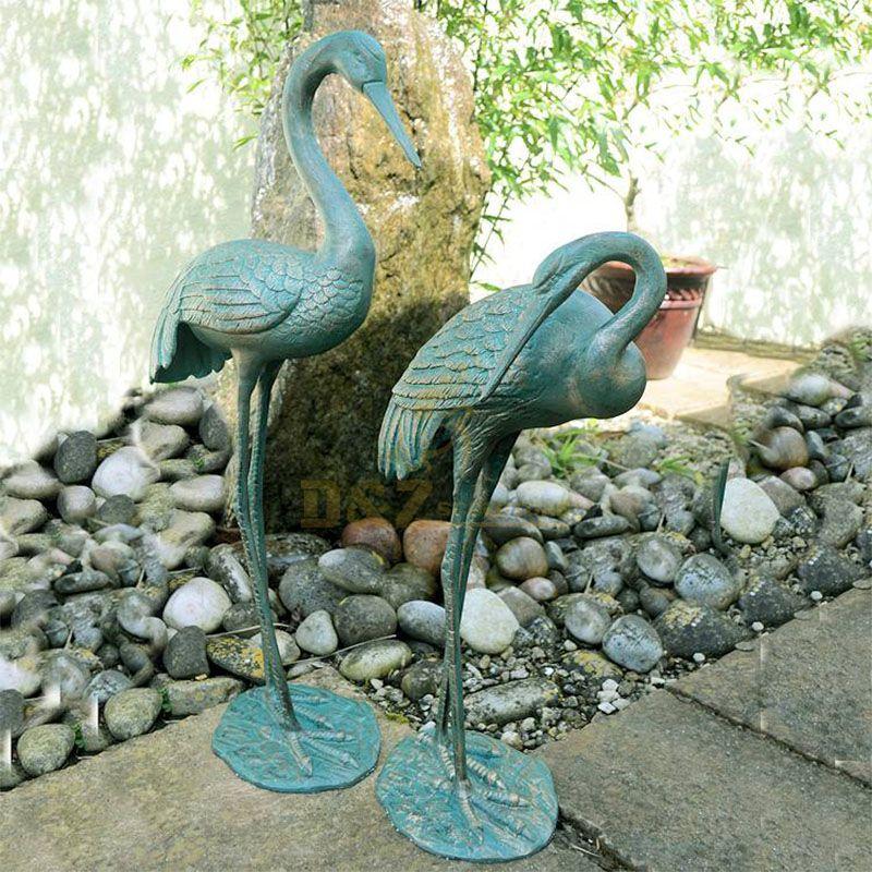 outdoor crane statue