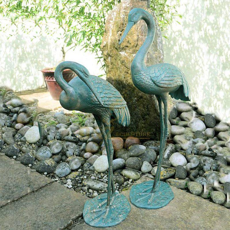 crane statue for garden