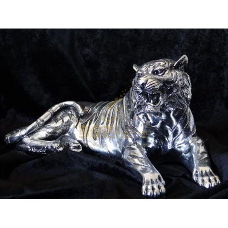 silver tiger statue