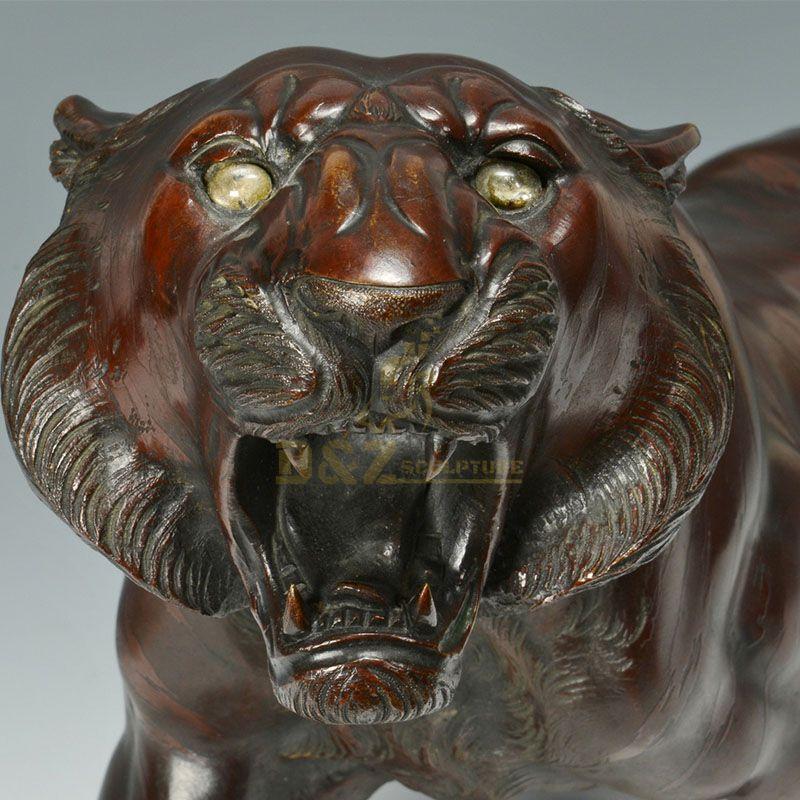 antique bronze tiger statue