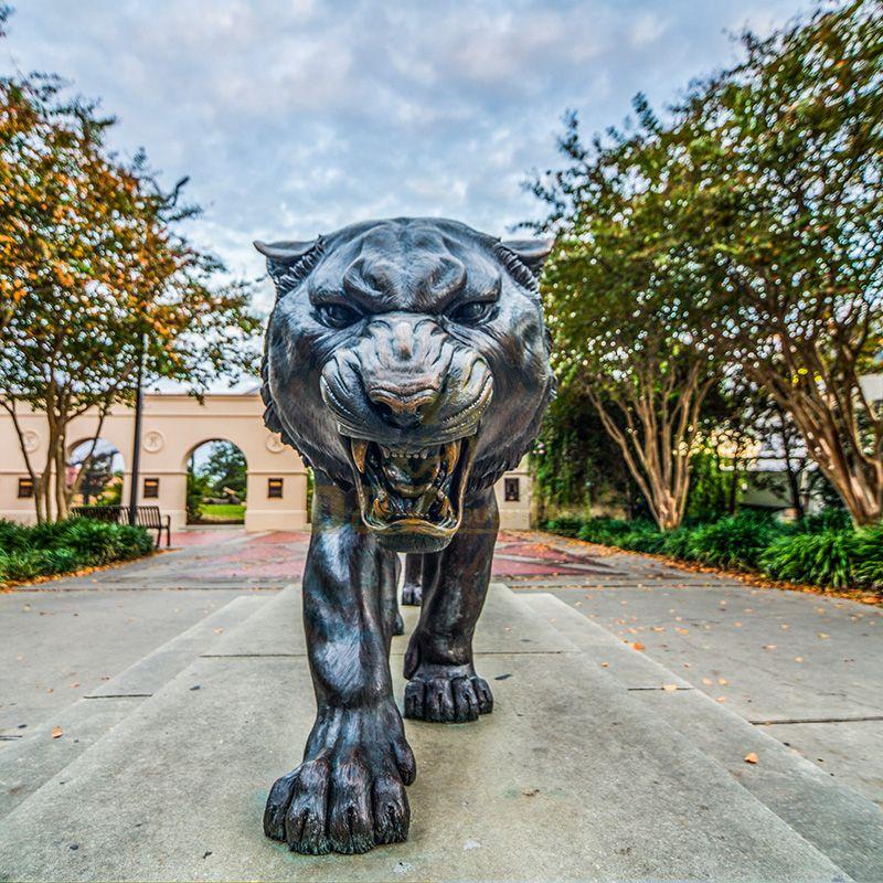 outdoor tiger statue