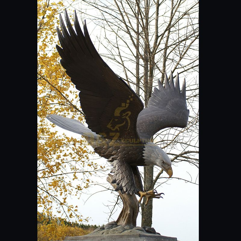 Outdoor life size bald eagle statue for sale