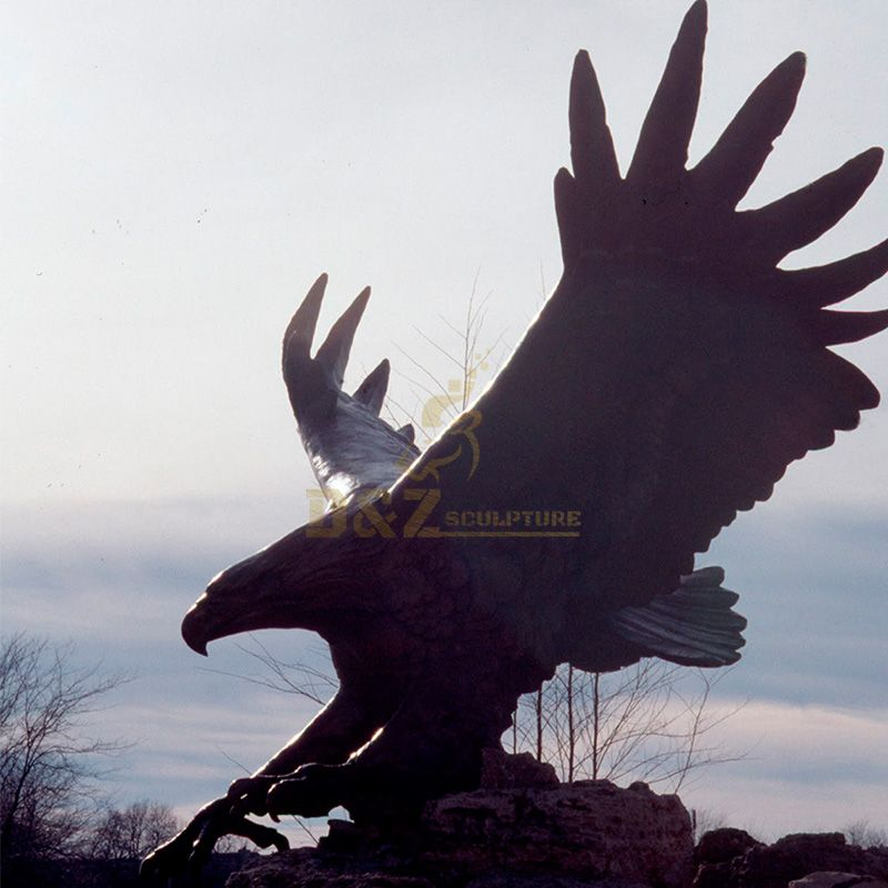 Outdoor bronze giant eagle statue for sale