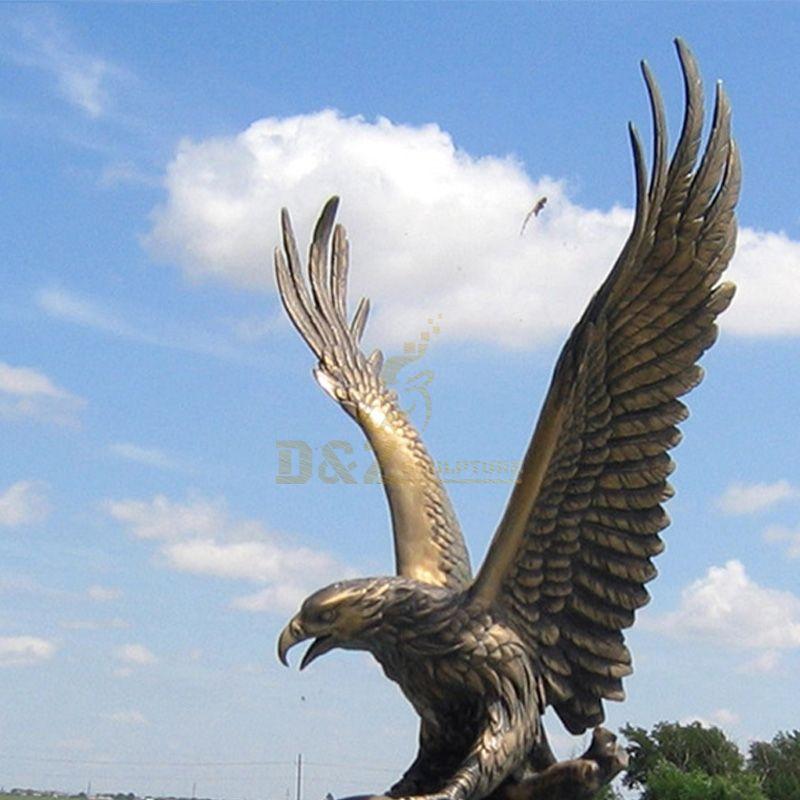 vintage brass eagle statue