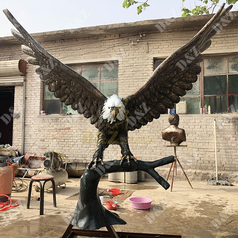 antique eagle statue