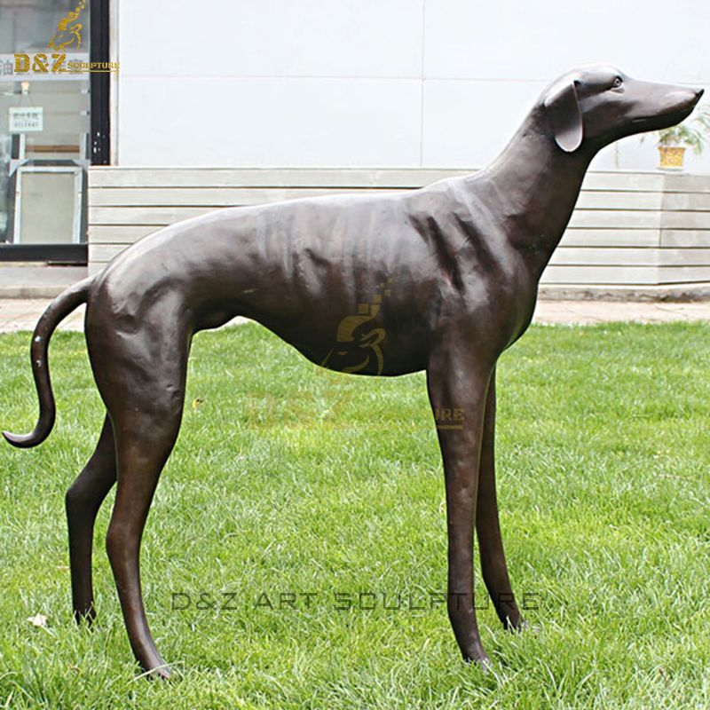Custom outdoor bronze dog statue for sale