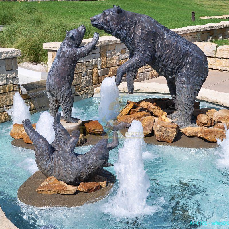 metal bear sculpture