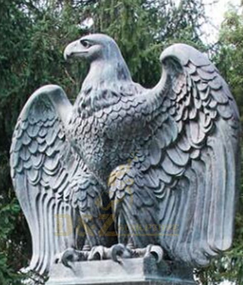 brass eagle sculpture
