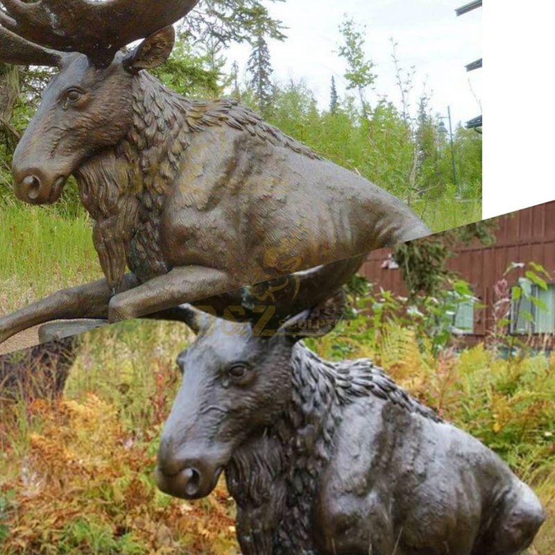 life size moose statue
