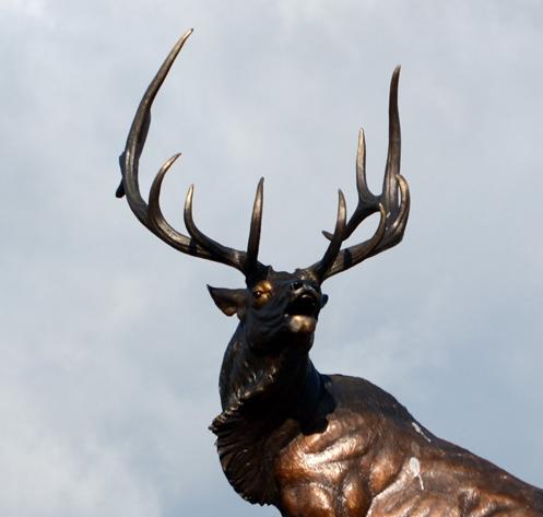 life size elk statue
