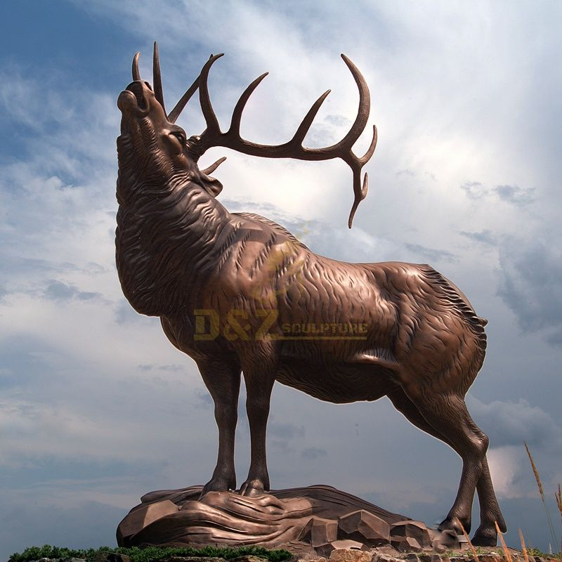 Best Quality outdoor life size bronze elk sculpture