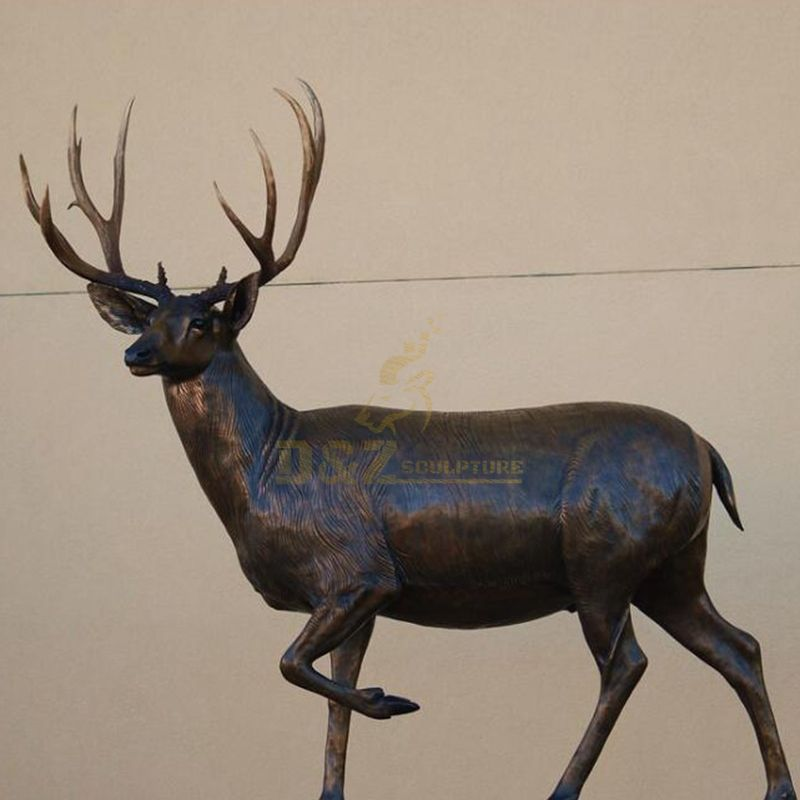Low price and high quality outdoor bronze deer sculpture
