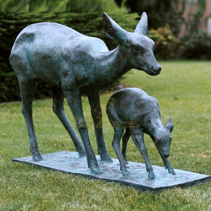 deer sculptures for garden